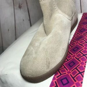Tory Burch Shoes - NEW Tory Burch Shearling Boots Natural Suede